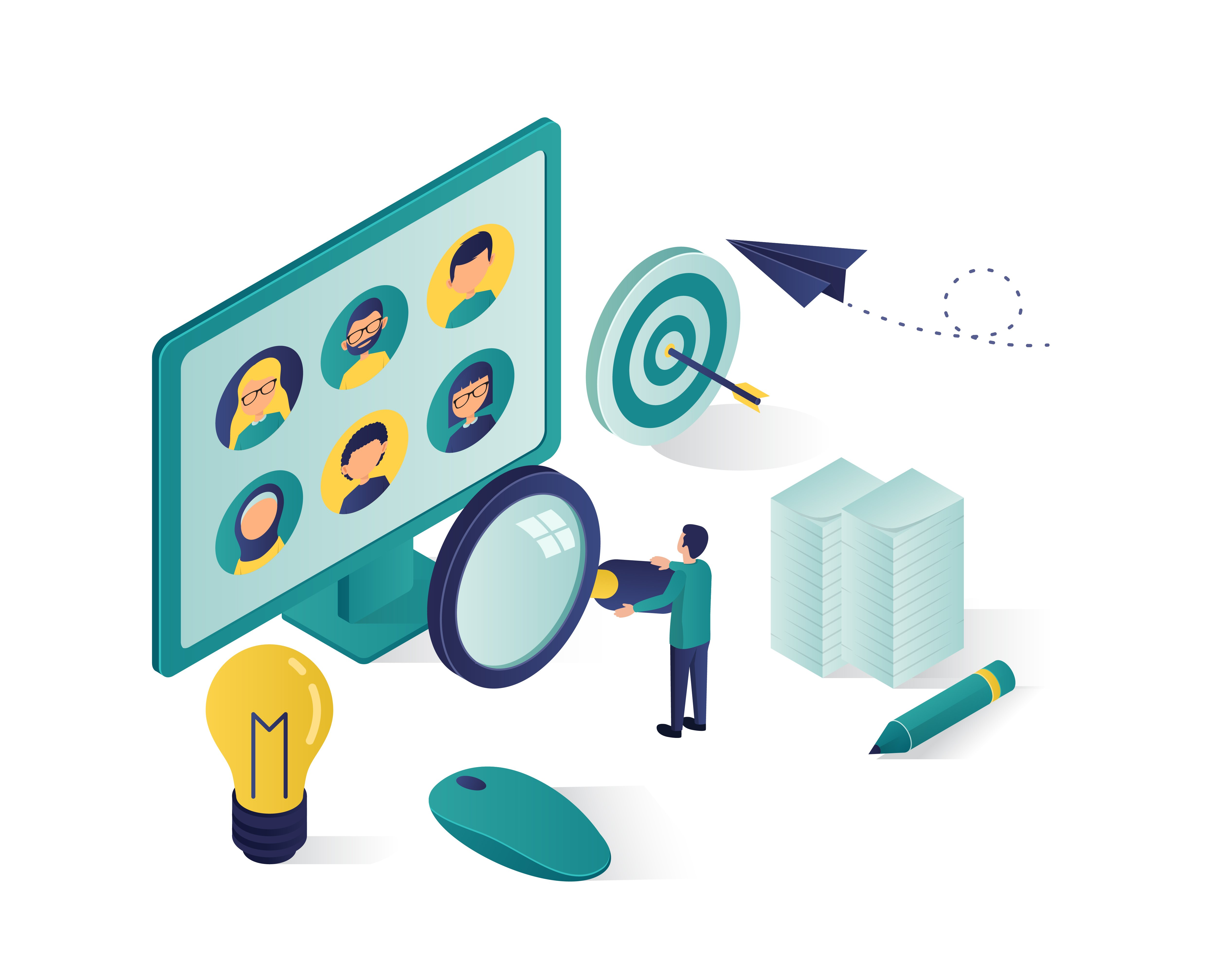 searching_for_candidate_isometric_illustrating-02